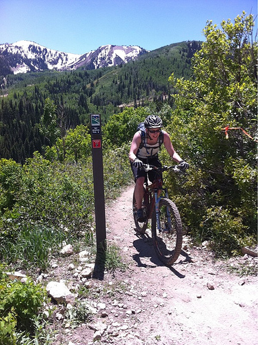 Riding Park City's Mid-Mountain Trail