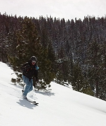 backcountry skiing on the switchback x2s