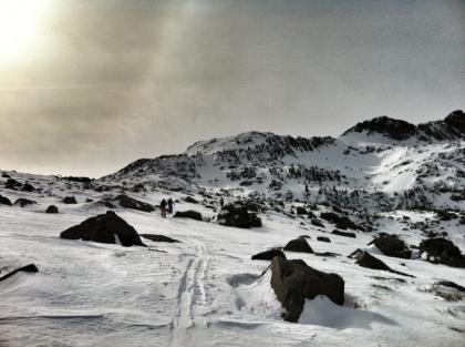 Skiing to Lake Winnemucca