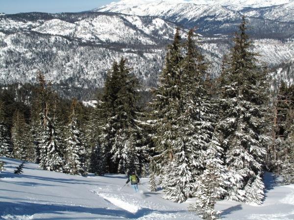 Fresh snow and Sierra views