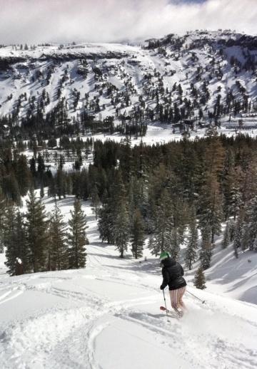 April powder snow at Lake Tahoe