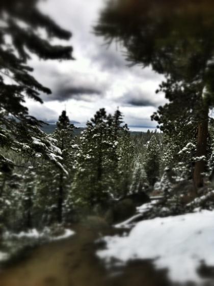 Cloudy views of Lake Tahoe