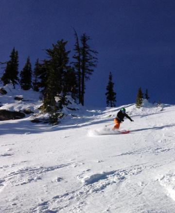 Skiing the Praxis Backcountry inbounds
