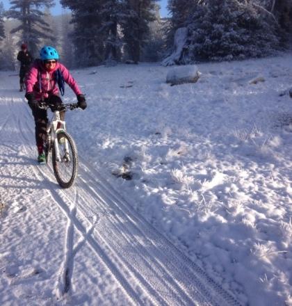 Snowy singletrack