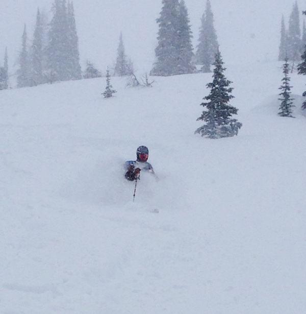 Powder Creek powder skier